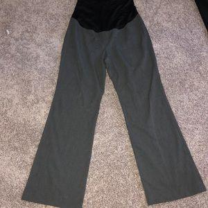 Gray maternity slacks